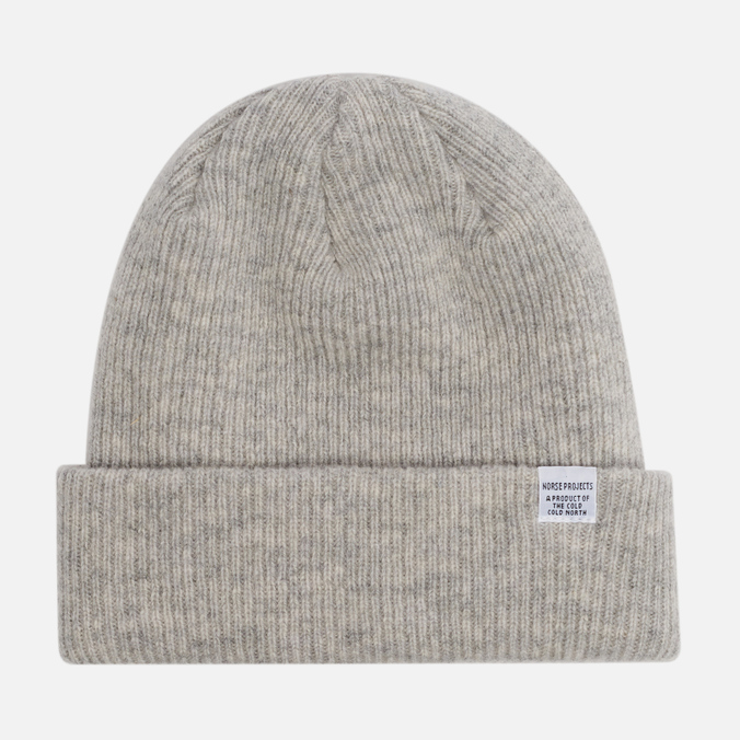 Norse Projects Norse Beanie Hat Light Grey Melange