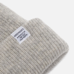 Norse Projects Norse Beanie Hat Light Grey Melange photo- 1