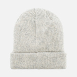 Norse Projects Norse Beanie Hat Light Grey Melange photo- 3