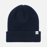 Мужская шапка Norse Projects Norse Beanie Navy фото- 0