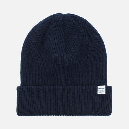 Мужская шапка Norse Projects Norse Beanie Navy