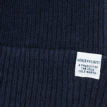 Мужская шапка Norse Projects Norse Beanie Navy фото- 1