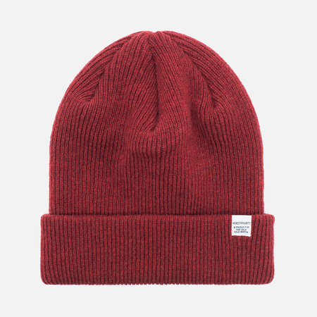 Norse Projects Norse Beanie Hat Red Clay