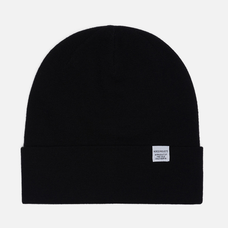 Мужская шапка Norse Projects Norse Top Beanie Black