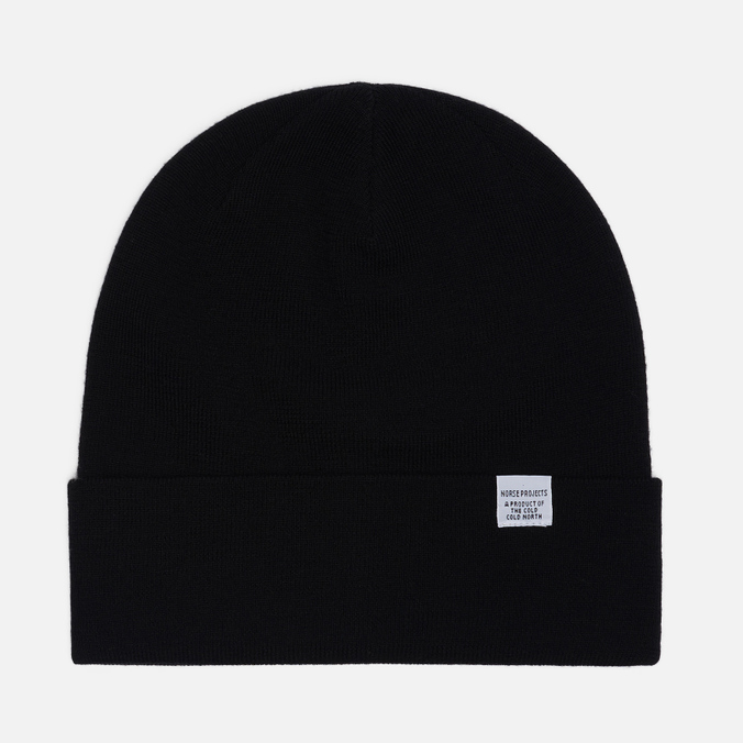 Шапка Norse Projects Norse Top Beanie Black