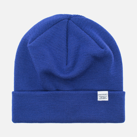Norse Projects Norse Top Beanie Hat Cornflower Blue