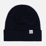 Шапка Norse Projects Norse Top Beanie Dark Navy фото- 0