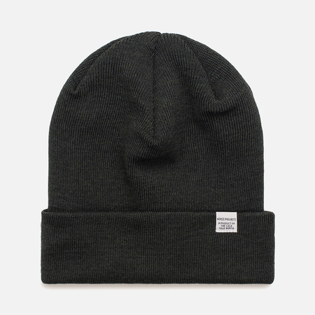 Мужская шапка Norse Projects Norse Top Beanie Moss