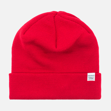 Norse Projects Norse Top Beanie Hat Oxide Red
