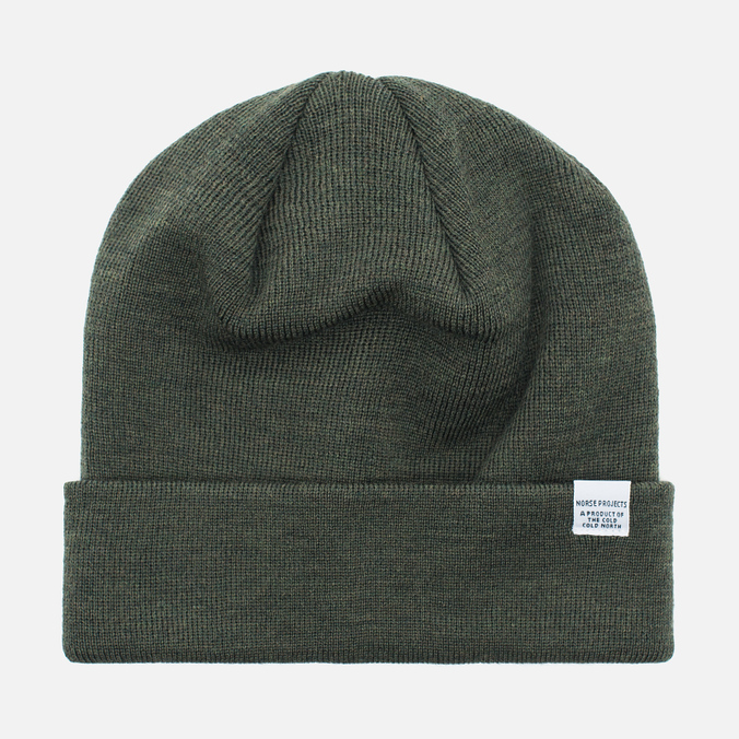 Шапка Norse Projects Norse Top Beanie Dried Olive