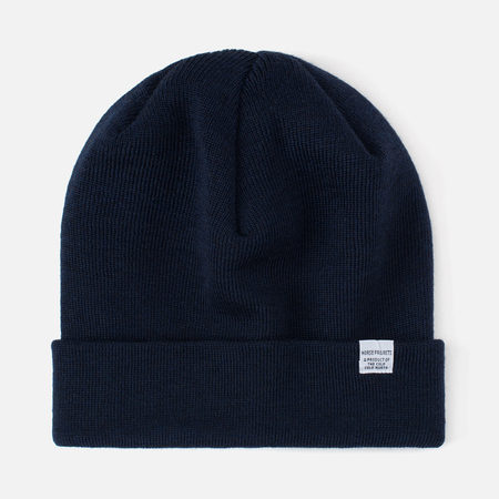 Мужская шапка Norse Projects Norse Top Beanie Navy