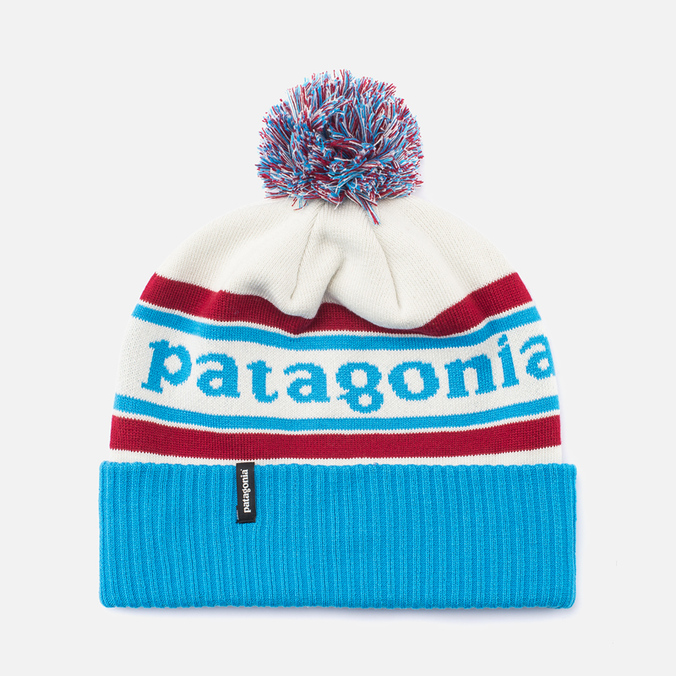 Шапка Patagonia Powder Town Park Stripe/Classic Red