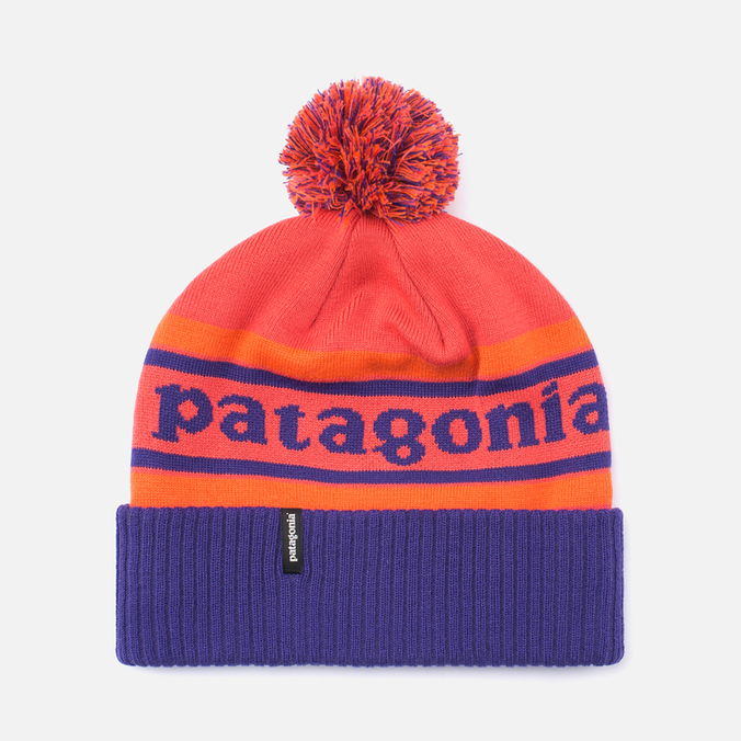 Шапка Patagonia Powder Town Park Stripe/Sumac Red