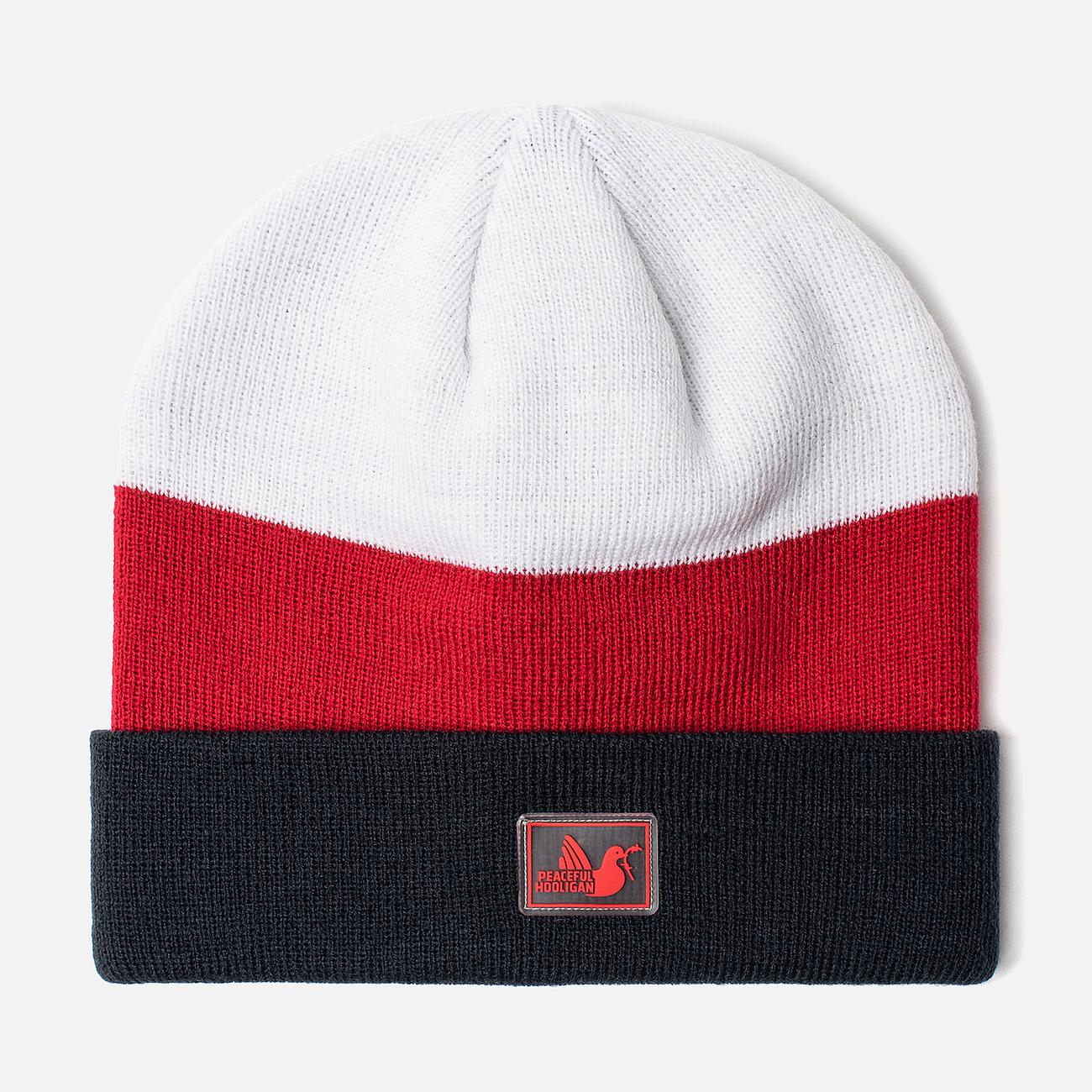 Шапка Peaceful Hooligan Stripe Navy/Red/White