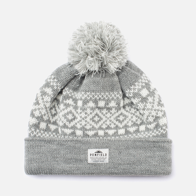 Шапка Penfield Fairton Fair Isle Grey