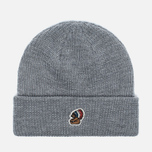 Penfield Poughkeepsie Bear Patch Beanie Hat Grey photo- 0