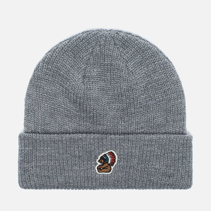 Penfield Poughkeepsie Bear Patch Beanie Hat Grey