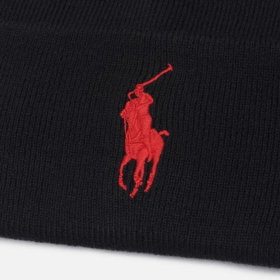 Шапка Polo Ralph Lauren Acrylic Big Polo Pony Black