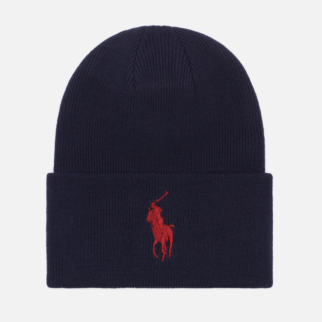 Шапка Polo Ralph Lauren Acrylic Big Polo Pony Cruise Navy