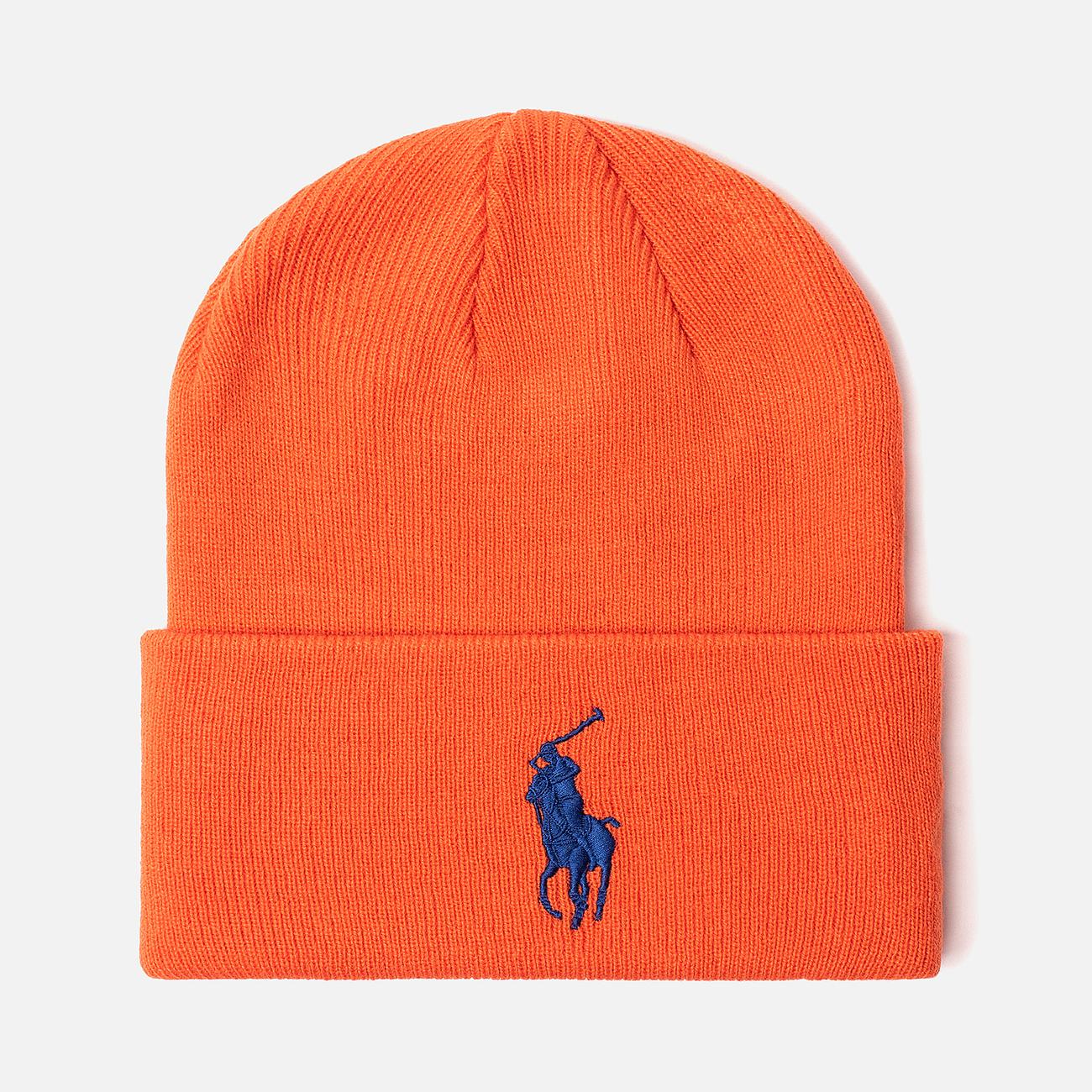 Шапка Polo Ralph Lauren Acrylic Big Polo Pony Neon Orange