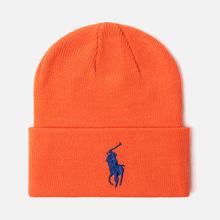 Шапка Polo Ralph Lauren Acrylic Big Polo Pony Neon Orange фото- 0