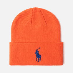Шапка Polo Ralph Lauren Acrylic Big Polo Pony Neon Orange