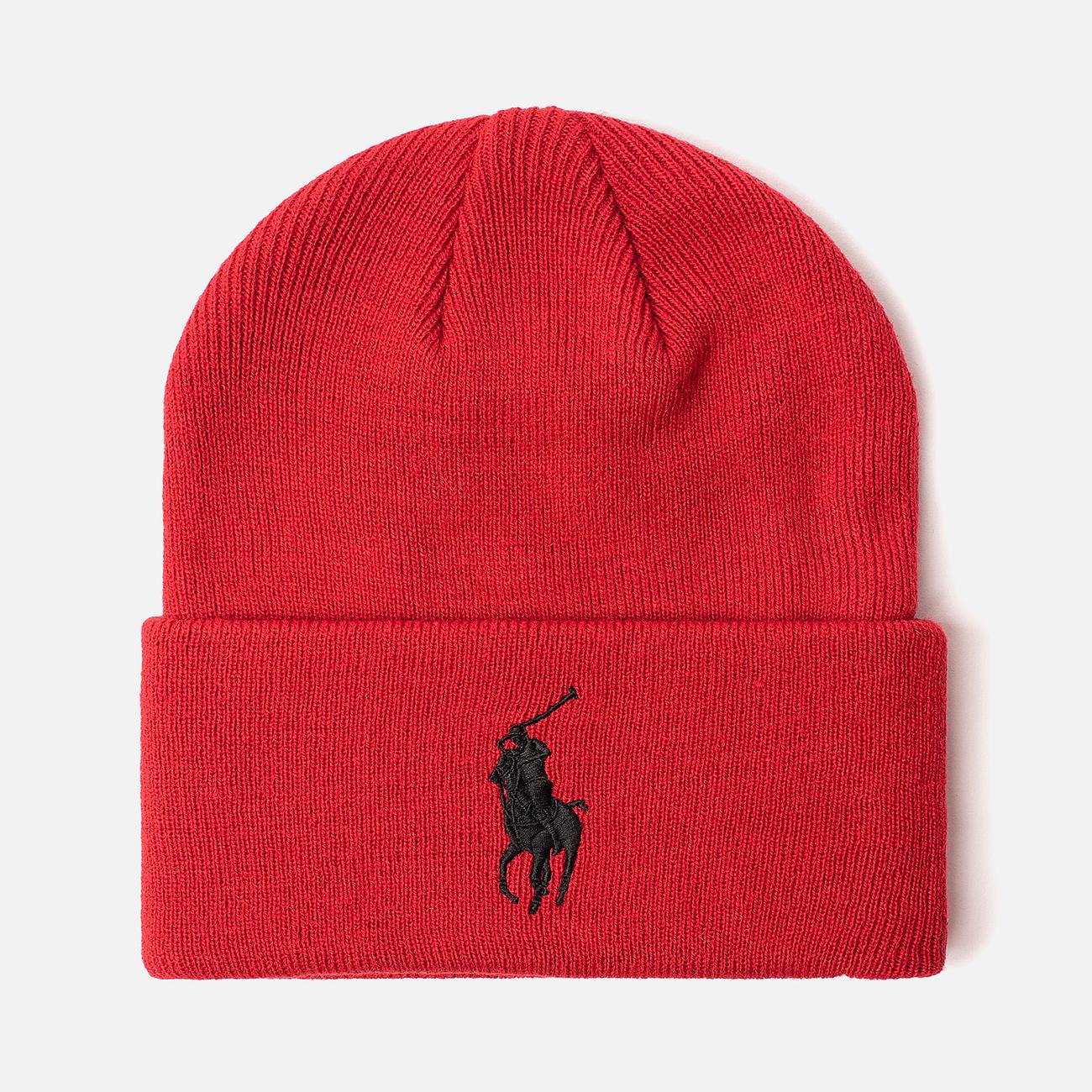Шапка Polo Ralph Lauren Acrylic Big Polo Pony Red
