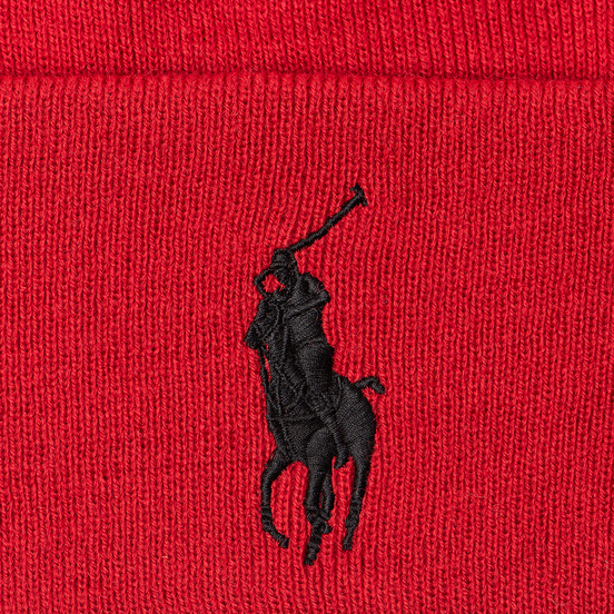 Шапка Polo Ralph Lauren Acrylic Big Polo Pony Red