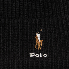 Шапка Polo Ralph Lauren Embroidered Polo Pony Viscose Blend Black фото- 1