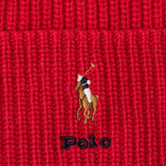 Шапка Polo Ralph Lauren Embroidered Polo Pony Viscose Blend Bright Red