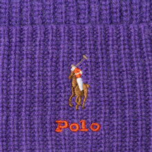 Шапка Polo Ralph Lauren Embroidered Polo Pony Viscose Blend Bright Violet Heather фото- 1