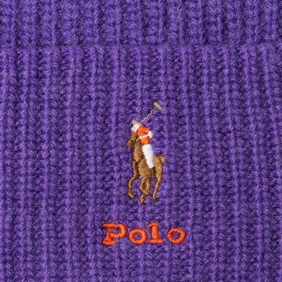 Шапка Polo Ralph Lauren Embroidered Polo Pony Viscose Blend Bright Violet Heather