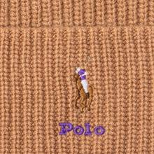 Шапка Polo Ralph Lauren Embroidered Polo Pony Viscose Blend Camel фото- 1