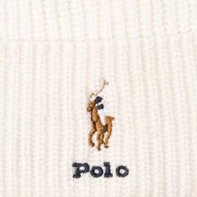 Шапка Polo Ralph Lauren Embroidered Polo Pony Viscose Blend Cream фото- 1
