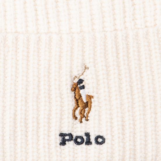 Шапка Polo Ralph Lauren Embroidered Polo Pony Viscose Blend Cream