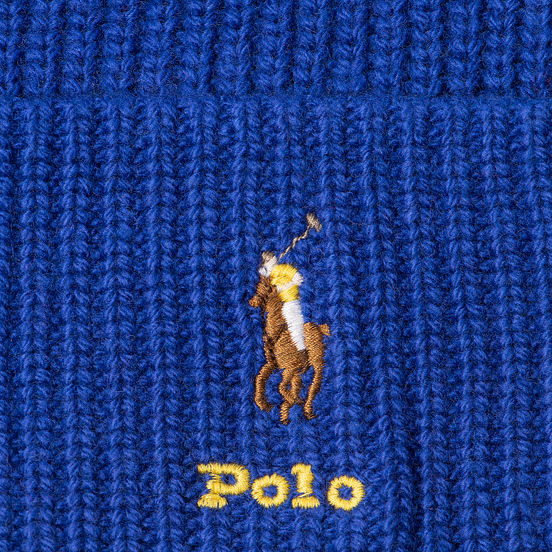 Шапка Polo Ralph Lauren Embroidered Polo Pony Viscose Blend Graphic Royal