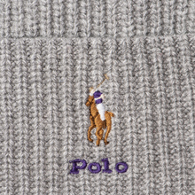Шапка Polo Ralph Lauren Embroidered Polo Pony Viscose Blend Light Grey Heather фото- 1