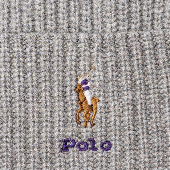 Шапка Polo Ralph Lauren Embroidered Polo Pony Viscose Blend Light Grey Heather