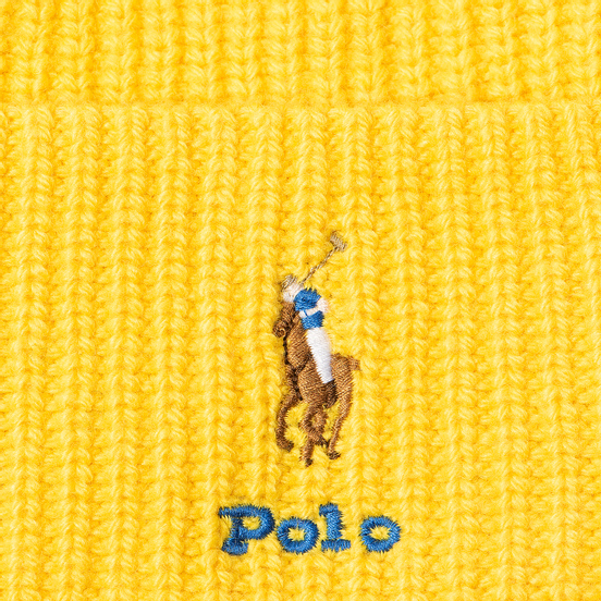 Шапка Polo Ralph Lauren Embroidered Polo Pony Viscose Blend University Yellow