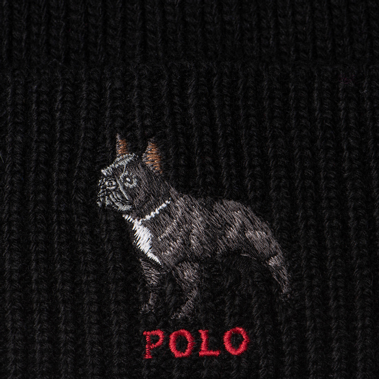 Шапка Polo Ralph Lauren French Bulldog Acrylic/Nylon/Wool Black