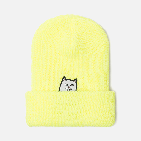 Шапка RIPNDIP Lord Nermal Rib Beanie Saferty Yellow