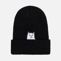 Шапка RIPNDIP Lord Nermal Ribbed Beanie Black