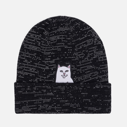 Шапка RIPNDIP Lord Nermal Ribbed Beanie Black Reflective Yarn