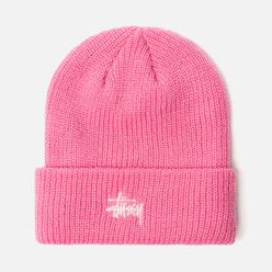 Шапка Stussy Basic Cuff Pink