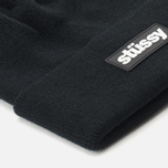 Шапка Stussy Rubber Patch Black фото- 3