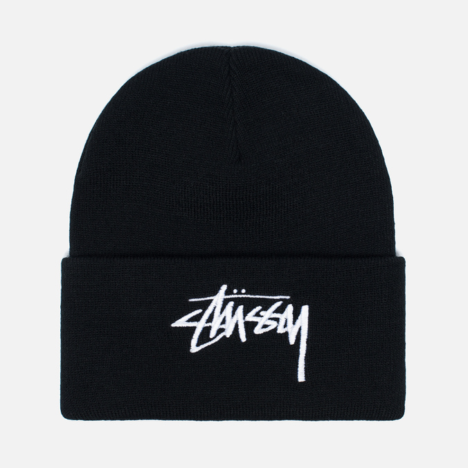 Stussy Stock Cuff Beanie Hat Black