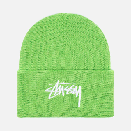 Stussy Stock Cuff Beanie Hat Green