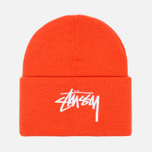 Шапка Stussy Stock Cuff Beanie Orange фото- 0