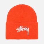 Stussy Stock Cuff Beanie Hat Orange photo- 0