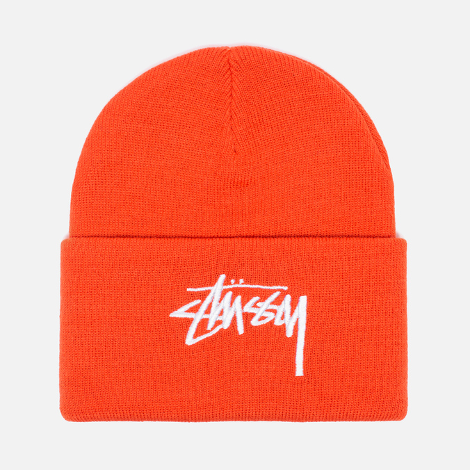 Шапка Stussy Stock Cuff Beanie Orange
